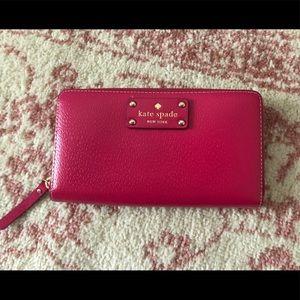 Kate Spade Pink Zipper Wallet